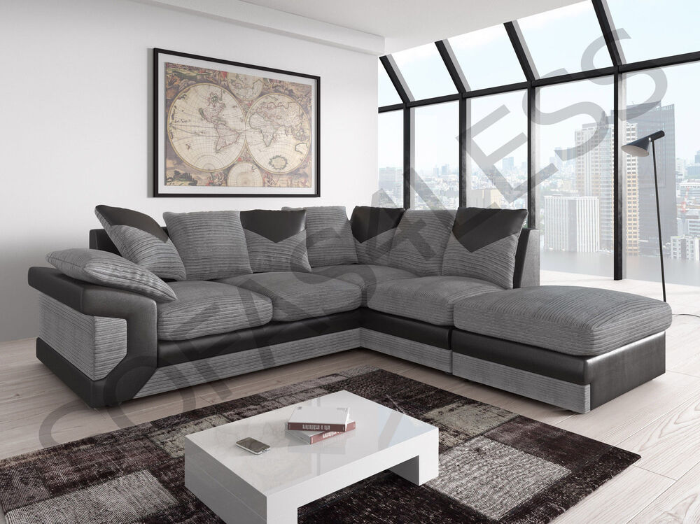 Grey Armchair And Footstool
