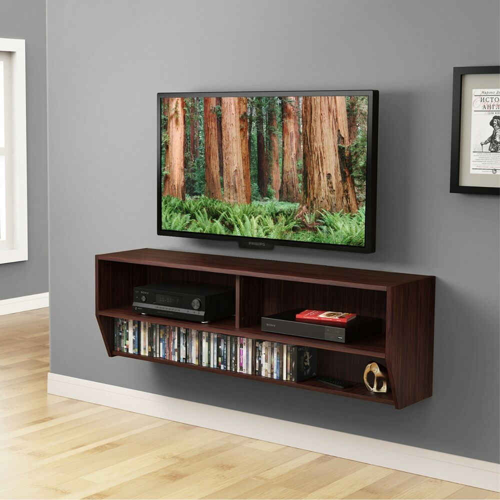 Wood TV Stand Wall Mount Media Entertainment Console