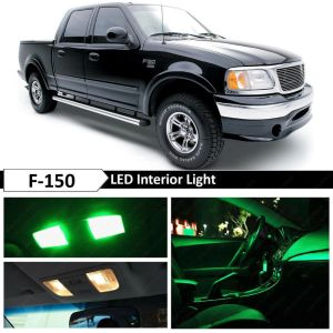 16x Green Interior LED Lights Package Kit for 19972003