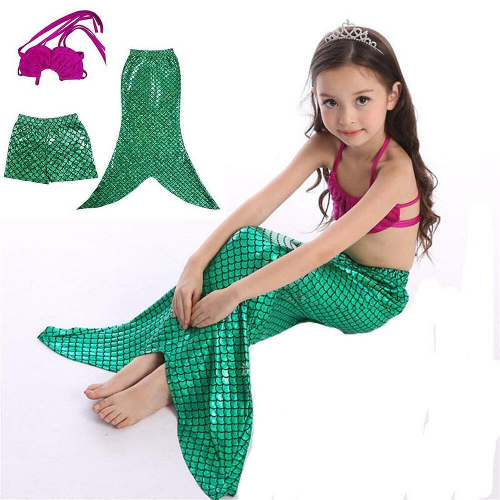 Mermaid Bathing Suit Girls