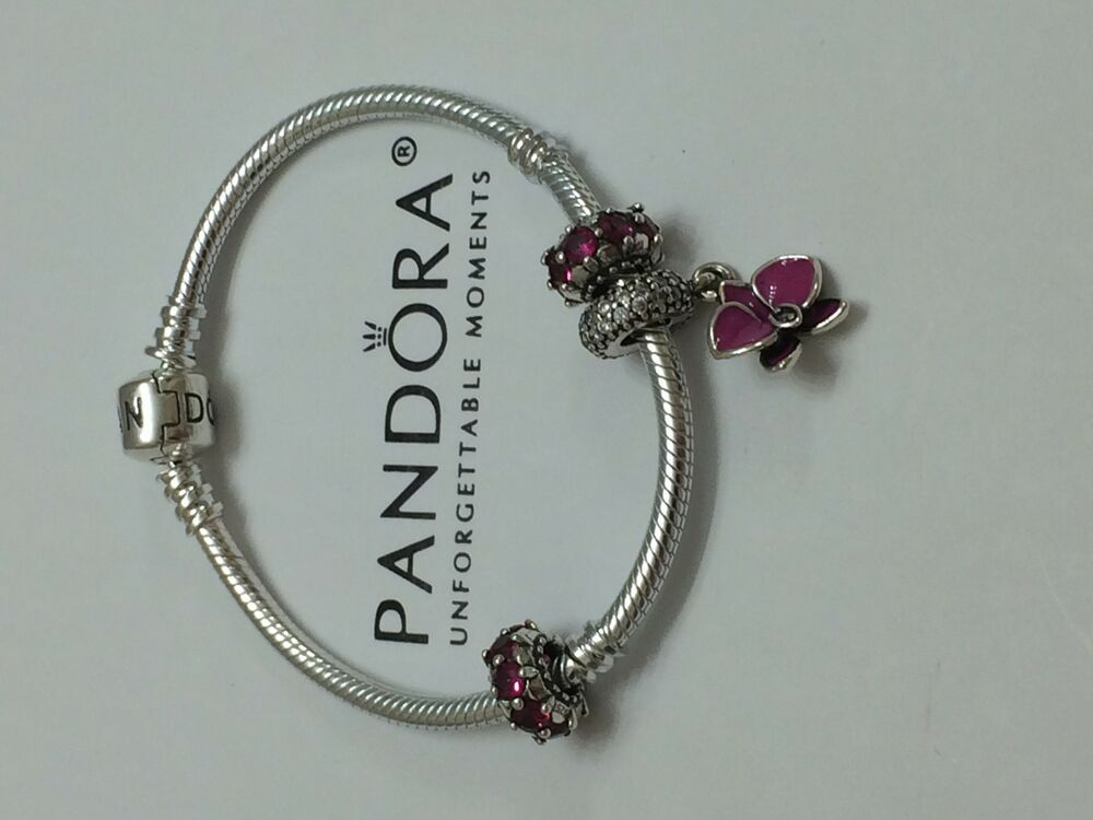 Authentic PANDORA Loving Radiant Orchid Charm Amp Ruby