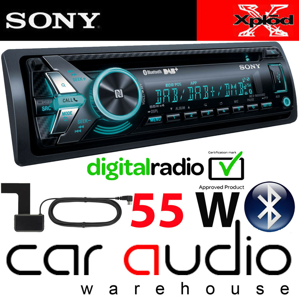 Sony Mex N Bd 55x4 Watts Dab Radio Bluetooth Cd Mp3 Usb