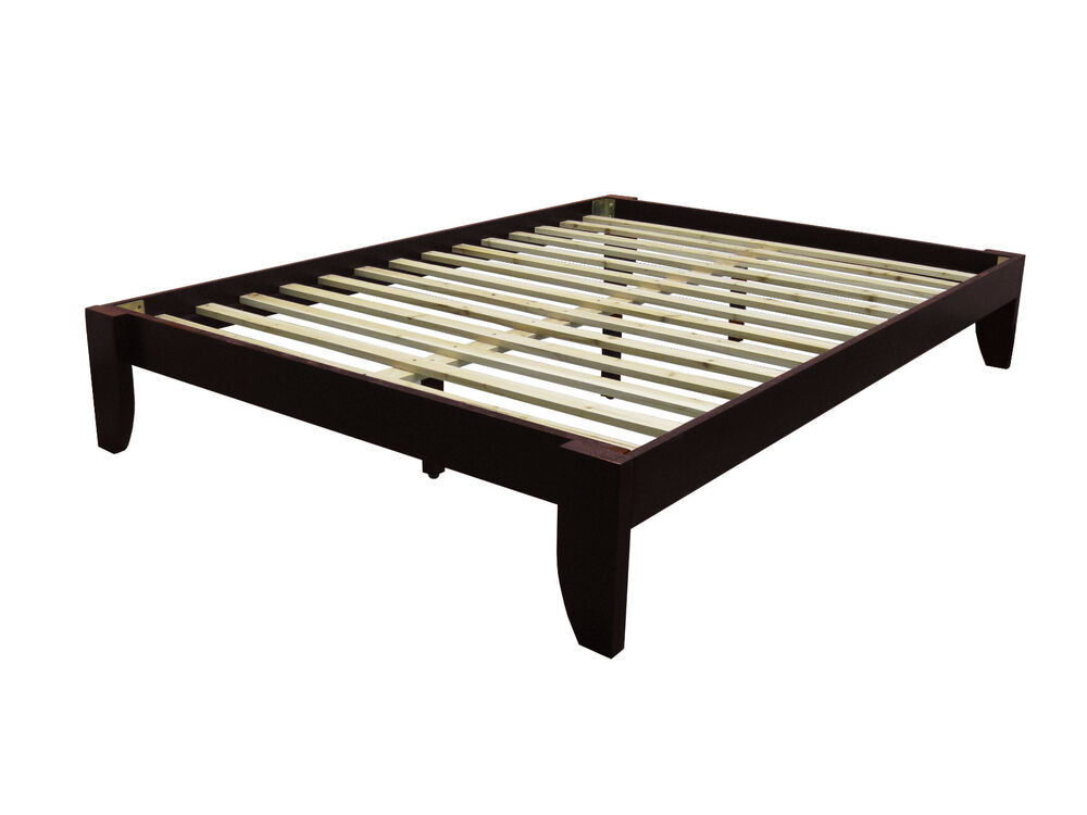 Queen Solid Bamboo All Wood Platform Bed Frame Choose
