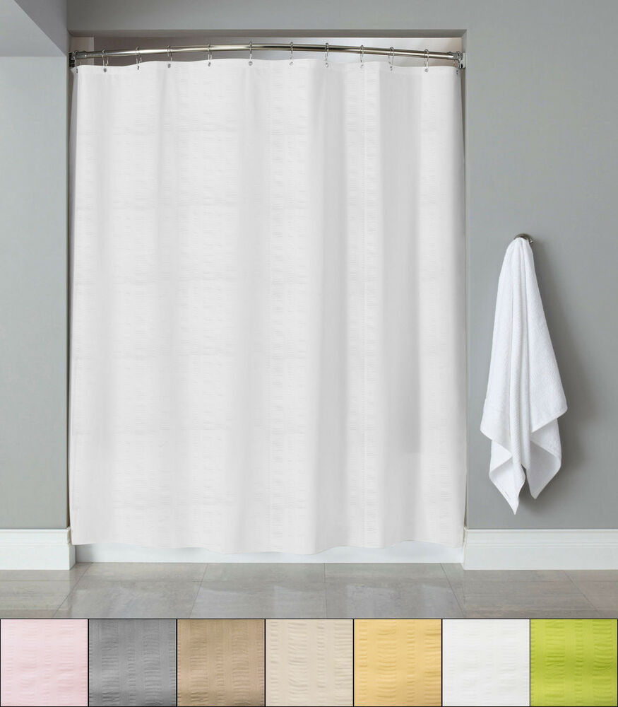 Embossed Fabric Shower CurtainLiner 70x72 Heartwood Hotel Collection EBay