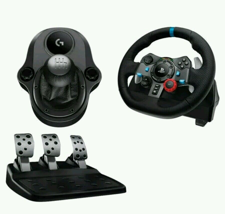 LOGITECH Driving Force G29 Steering Wheel Pedals Amp Gearstick Shifter PS3 PS4 PC EBay
