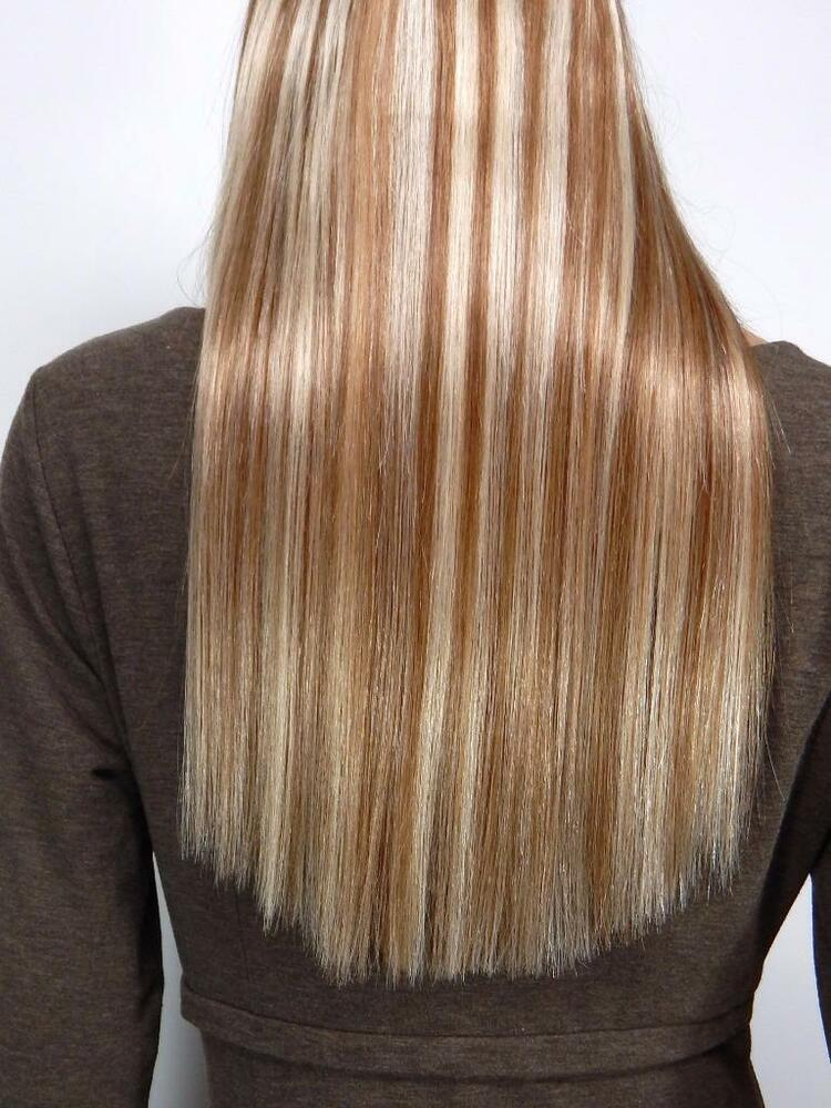 HUMAN HAIR 16 8613 Blonde MIx ANGEL COUTURE HALO STYLE