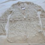 Zara Trafaluc Collection Ladies Crochet Lace Beach Coat Jacket Top Size S New