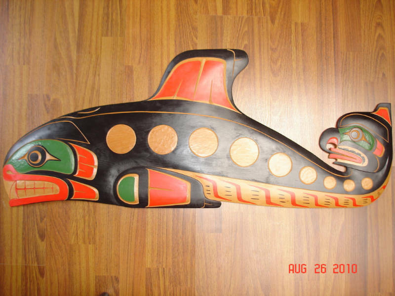 Large Quot Killer Whale Amp Hawk Man Quot Authentic Northwest Coast