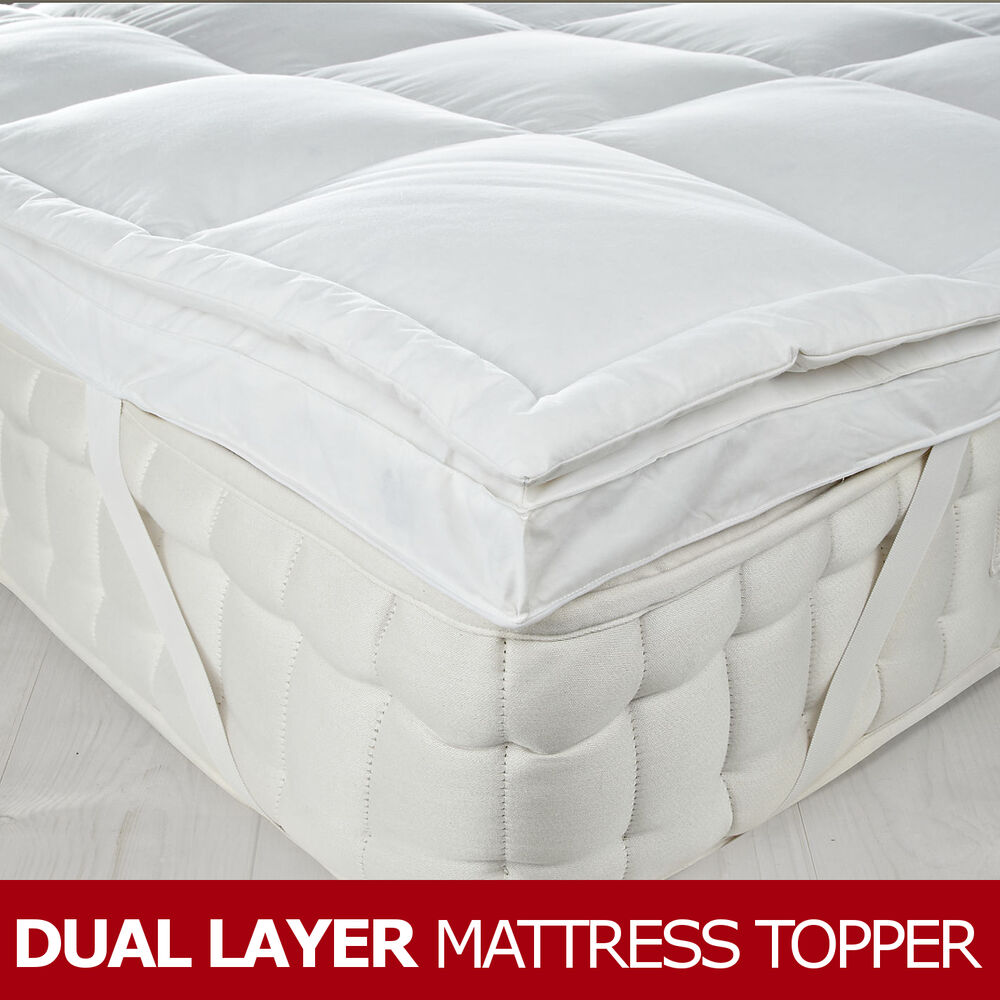Dual Layer Goose Feather Amp Down Mattress Topper 7cm3