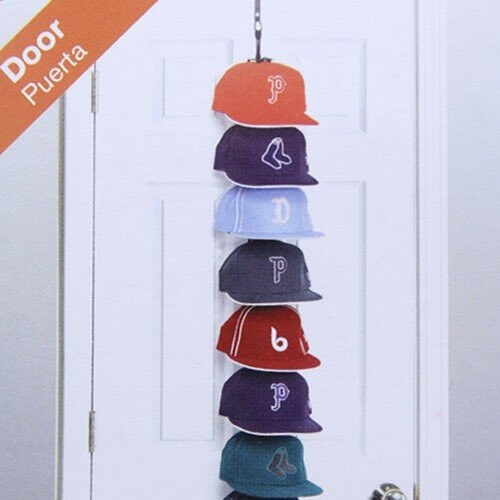 CAP RACK 36 HANGING HAT RACKS HOLD DISPLAY DOOR CLOSET
