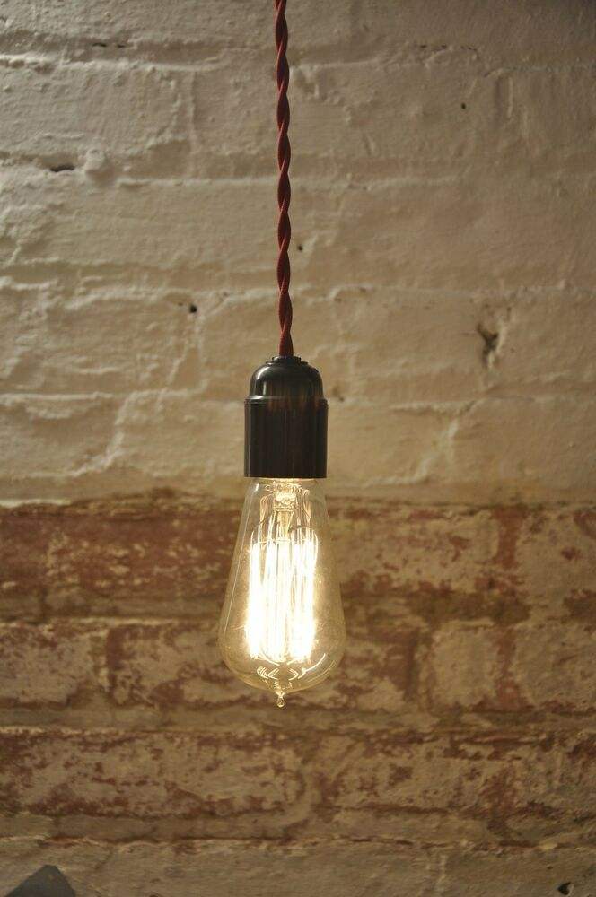 Twisted Wire Pendant Light