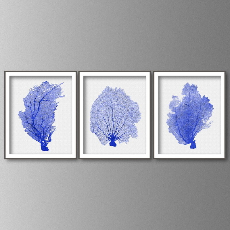 Blue Coral Wall Art