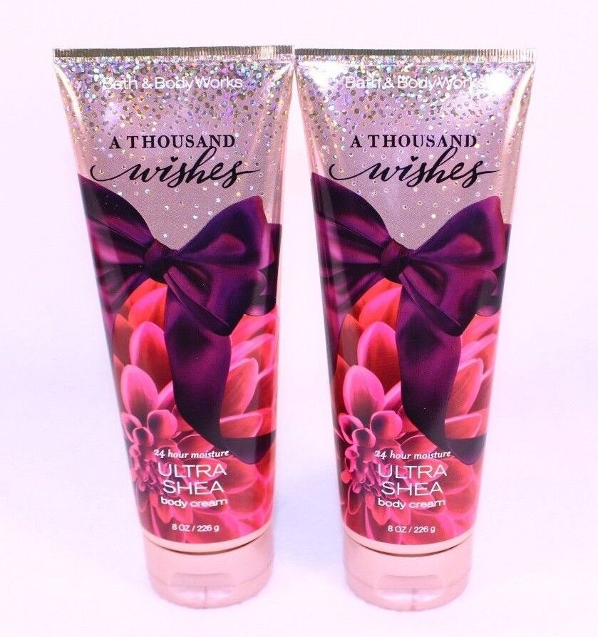 2 Bath Amp Body Works A THOUSAND WISHES 24hr Ultra Shea Body Cream Lotion EBay