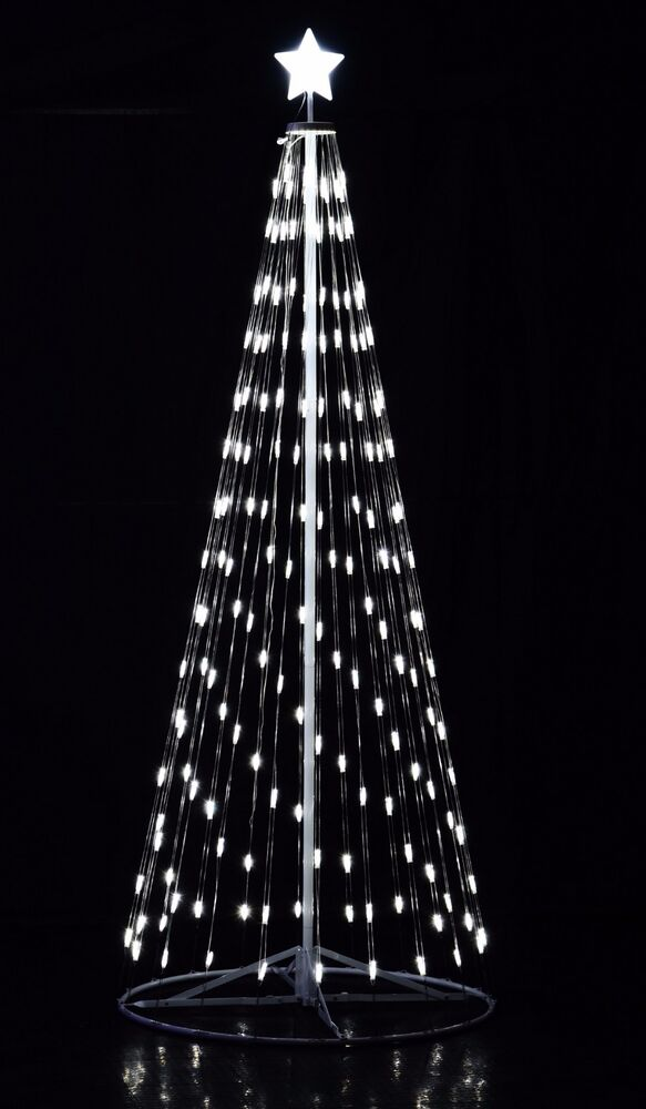 12ft Remote Control LED Light Christmas Cone Tree White