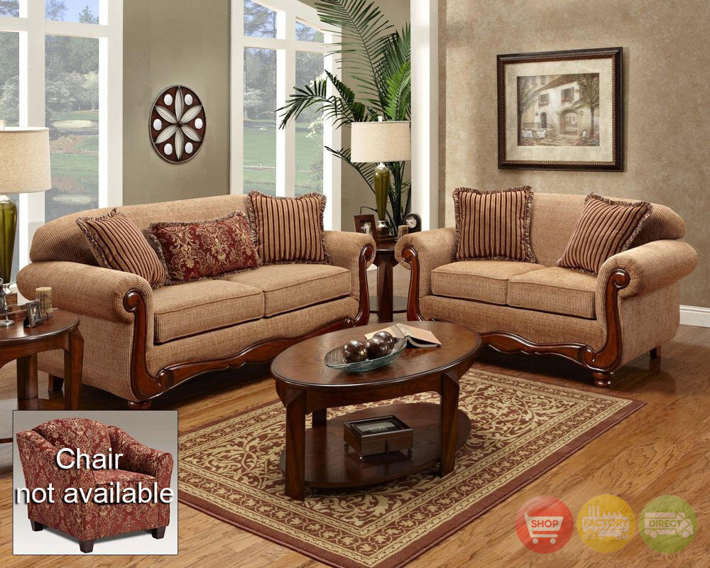 Key West Traditional Sofa & Love Seat Living Room