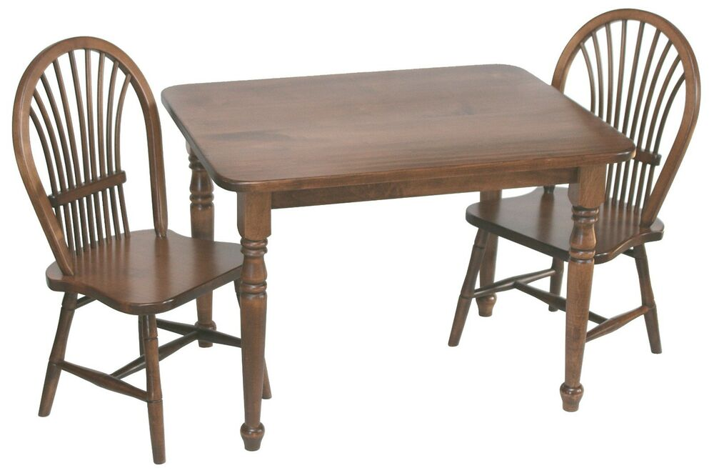 Amish Childrens Table And Chairs