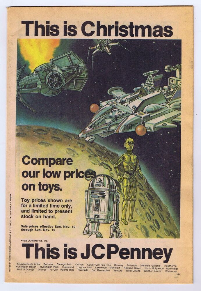 Star Wars 1978 JCPenney Christmas Catalog Featuring Star