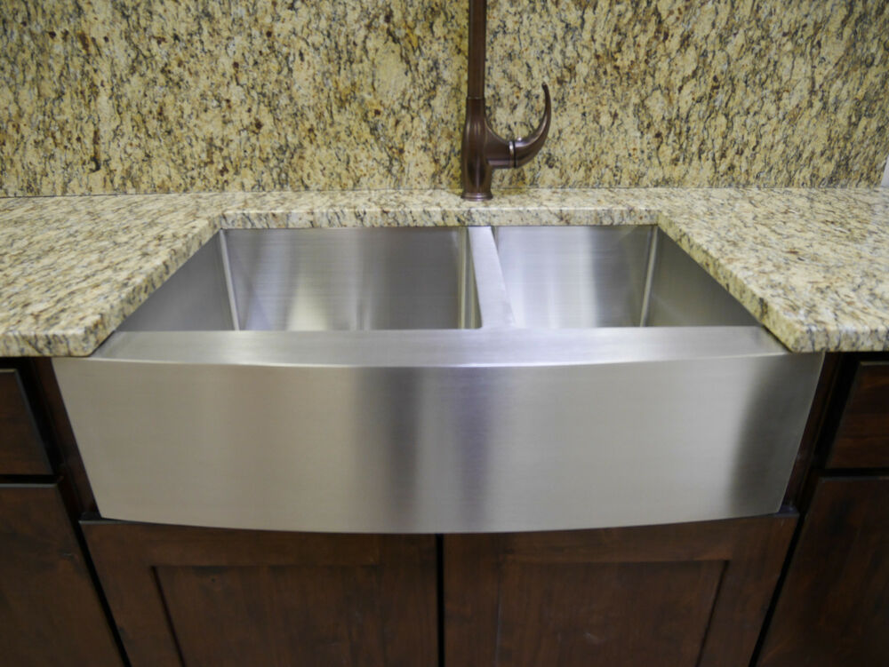33 Stainless Steel Farmhouse Front Apron Double Bowl Kitchen Sink W Grids EBay