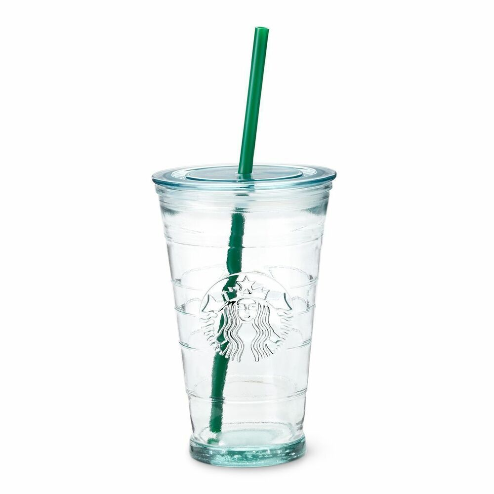 Starbucks Coffee Quality Cold Cup Mug RECYCLED GLASS