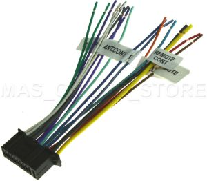 22PIN WIRE HARNESS FOR KENWOOD DDX6019 KVT512 KVT514