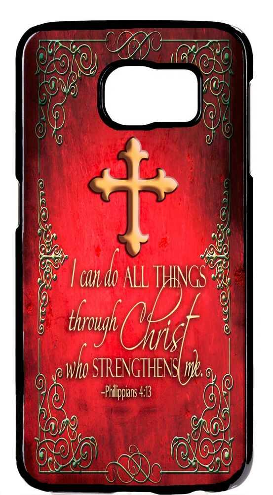 For Samsung Galaxy S6 S7 Edge Bible Verse Cross Christian New Pattern Case Cover EBay