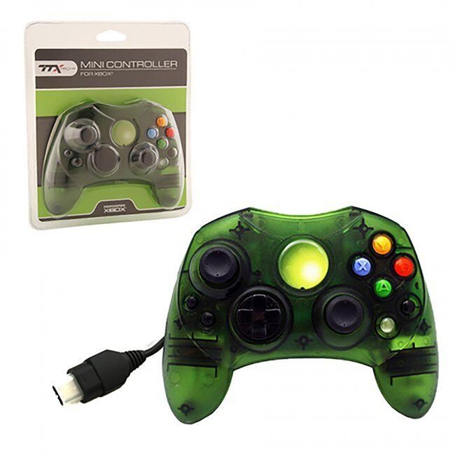 XBOX CONTROLLER S WIRED SOLID CLEAR GREEN FOR THE ORIGINAL