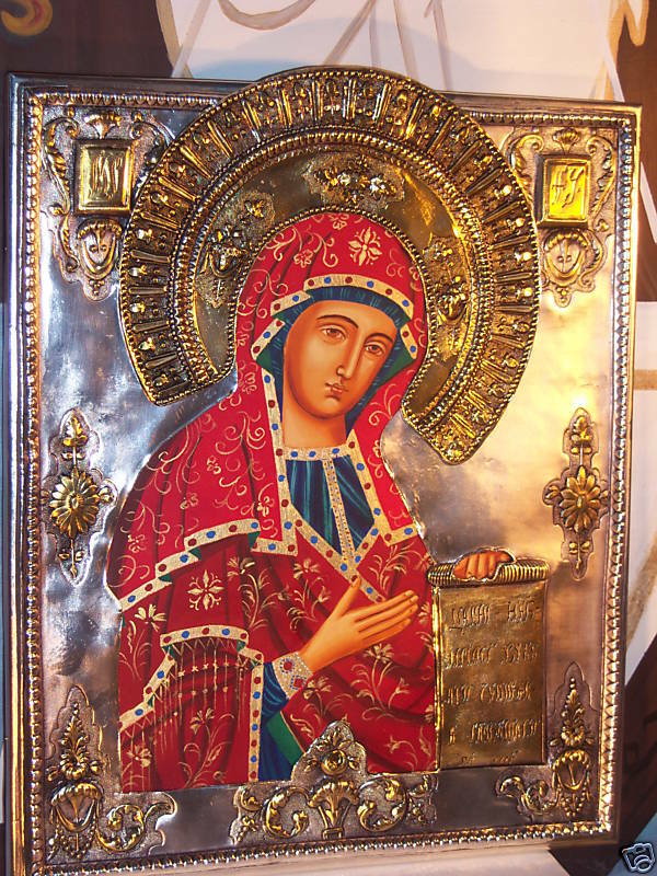 HAND MADE POLISH ORTHODOX ICON BOGOLYUBSKY MADONNA EBay