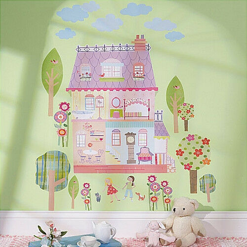 WALLIES PLAY HOUSE Dollhouse Wall Stickers MURAL 29 Decals