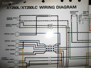 Yamaha OEM Factory Color Wiring Diagram Schematic 1984
