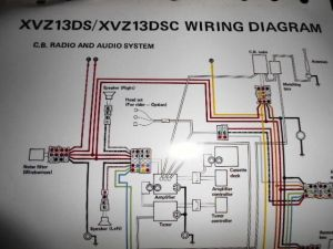 Yamaha OEM Factory Color Wiring Diagram Schematic 1986