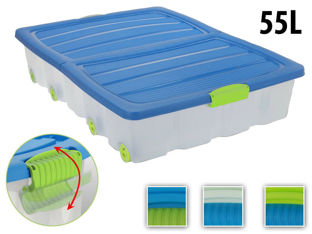 Lid Containers Wheels Storage