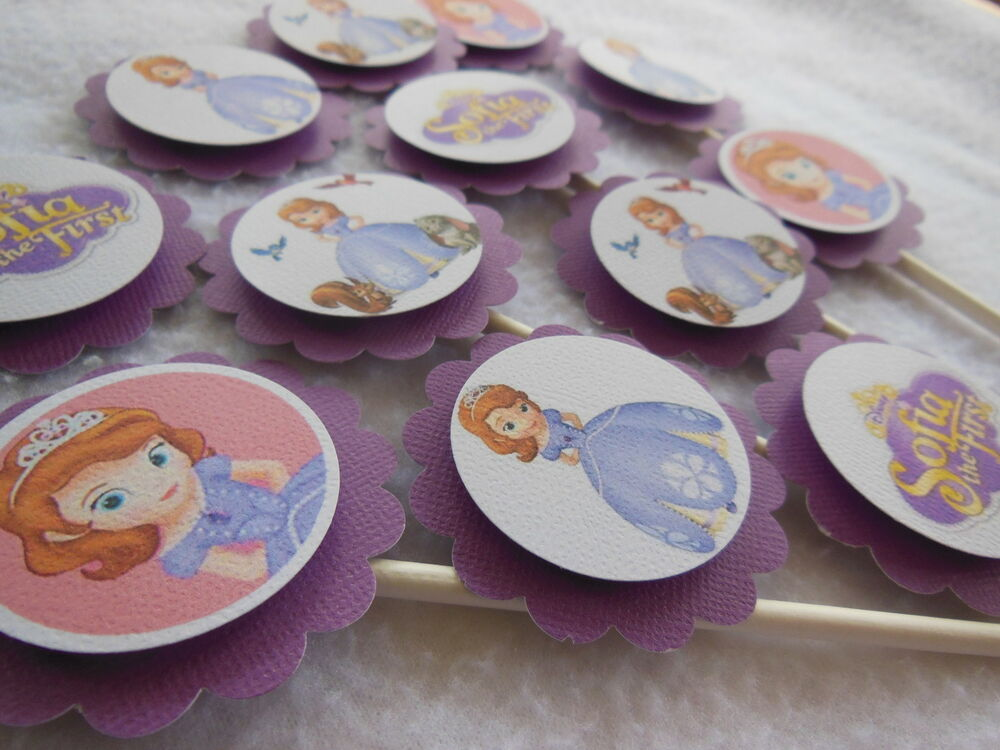 Sofia The First Cupcake Toppers Birthday Party NEW Packed