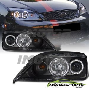 [Dual CCFL Halo] 2005 2006 2007 Ford Focus Black Projector