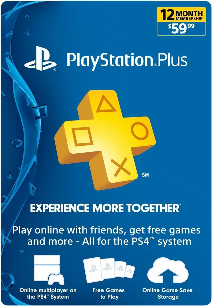 Sony PlayStation PLUS 1 YEAR (12 Month)Gamecard PSN PS3 PS4 VITA*NEW* | eBay