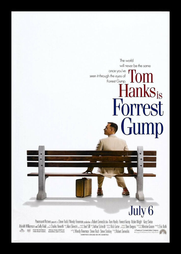 FORREST GUMP CineMasterpieces DOUBLE SIDED NM M ORIGINAL