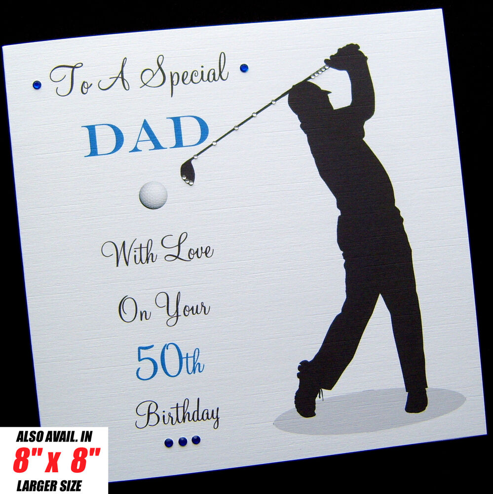 Personalised GOLF Birthday Card Dad Brother Son Husband
