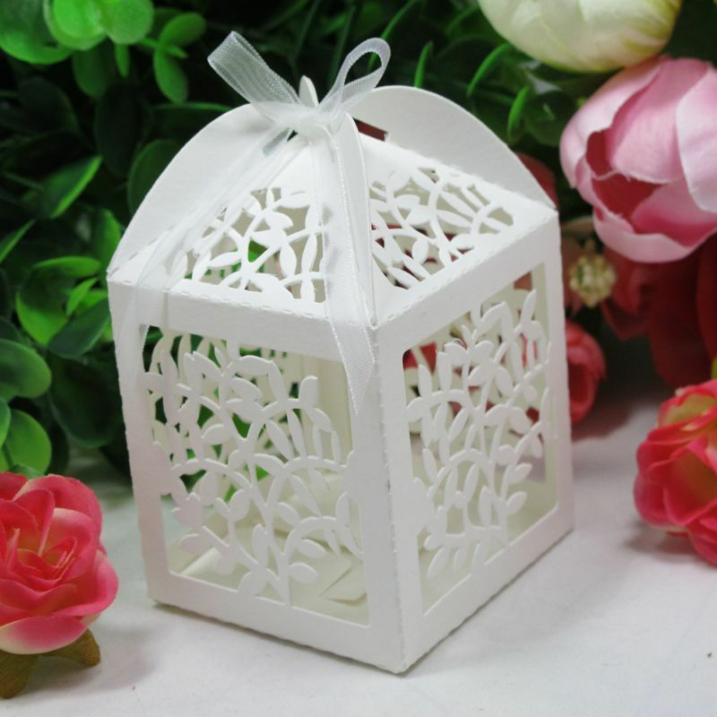 50xLove Tree Laser Cut Candy Box Gift Sweets Boxes W