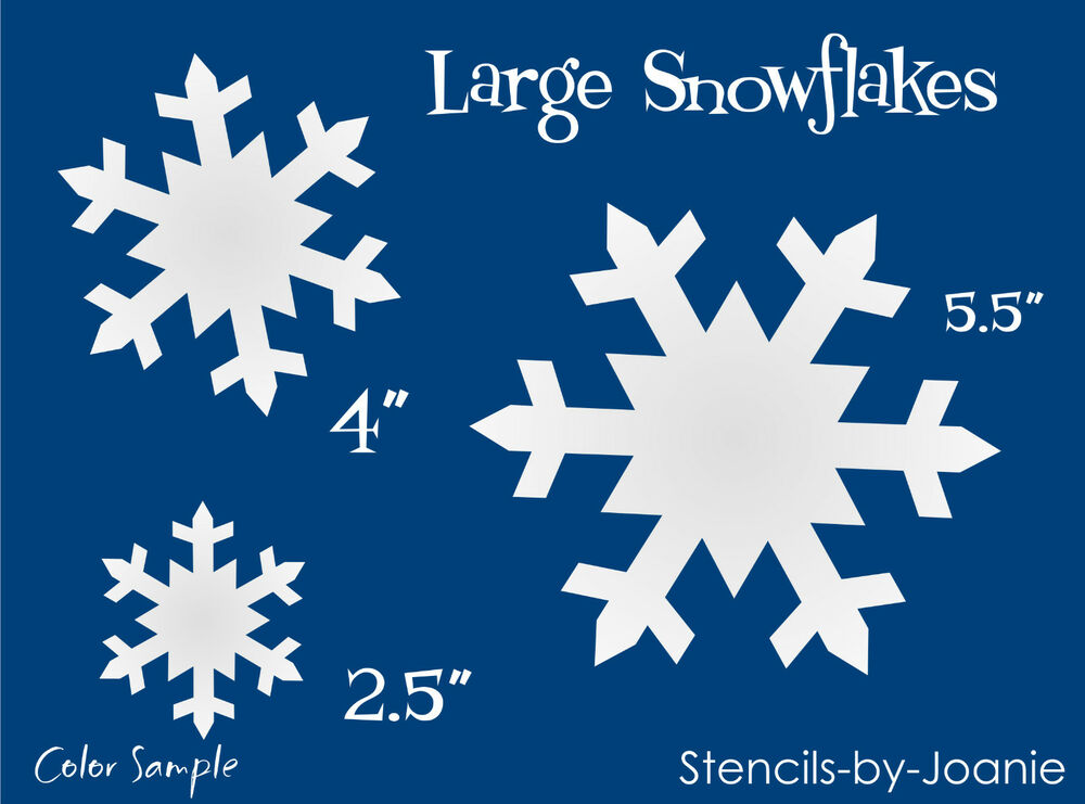 STENCIL Snowflake Shapes Primitive Winter Christmas Signs