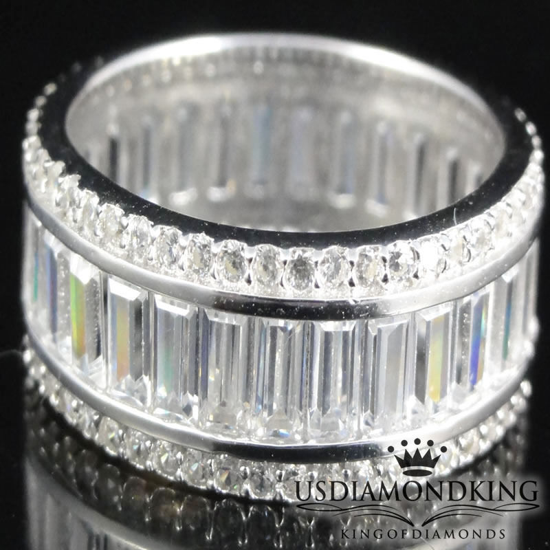 Sterling Silver Diamond Band Rings