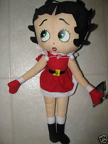 Betty Boop Stuffed Doll Mrs Claus Santa Xmas Kellytoy EBay