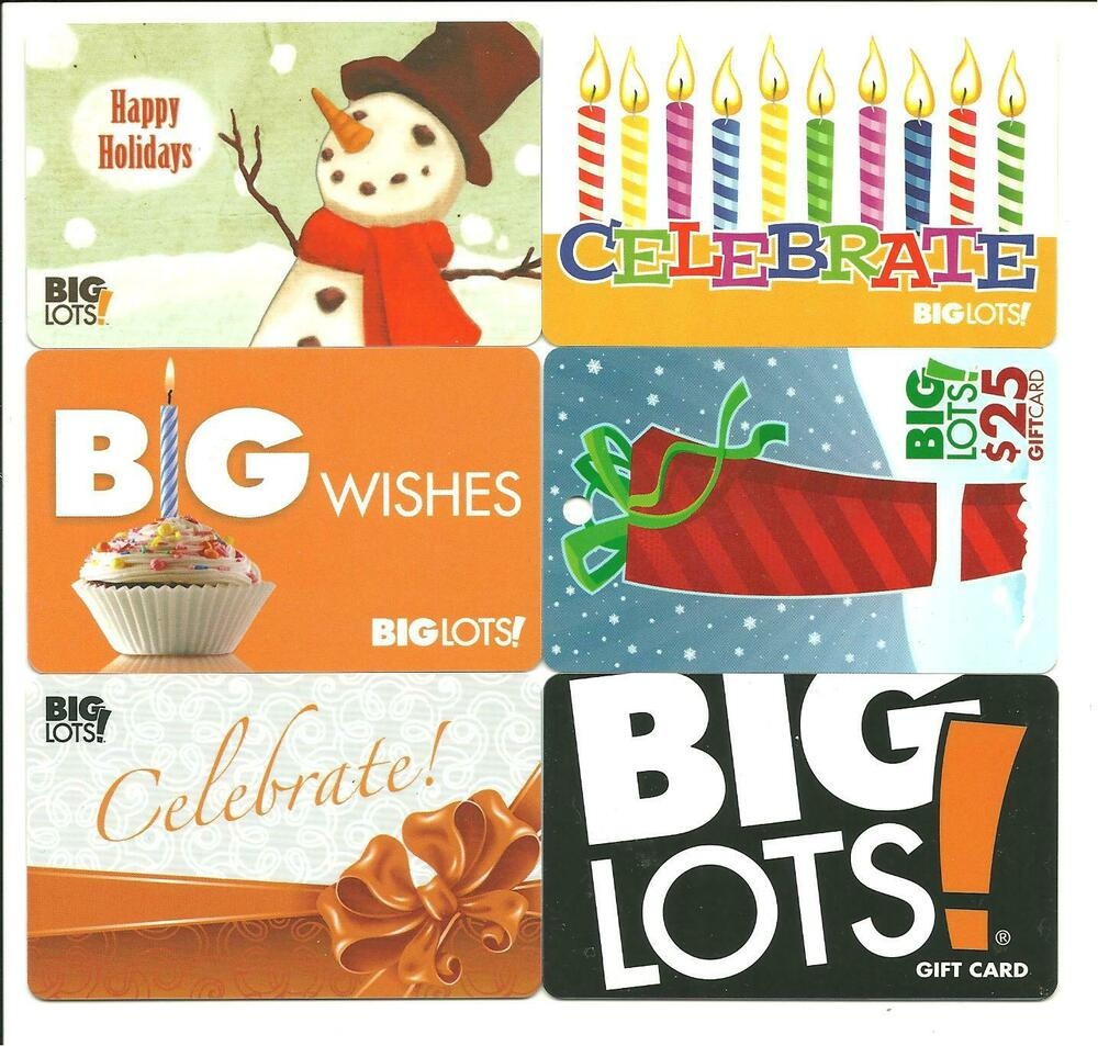 Big Lots Lot Of 7 Gift Cards No Value Collectible Incl