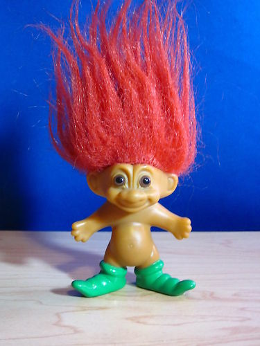 Russ Troll Doll With Red Hair And Green Shoes 3 Inches EBay