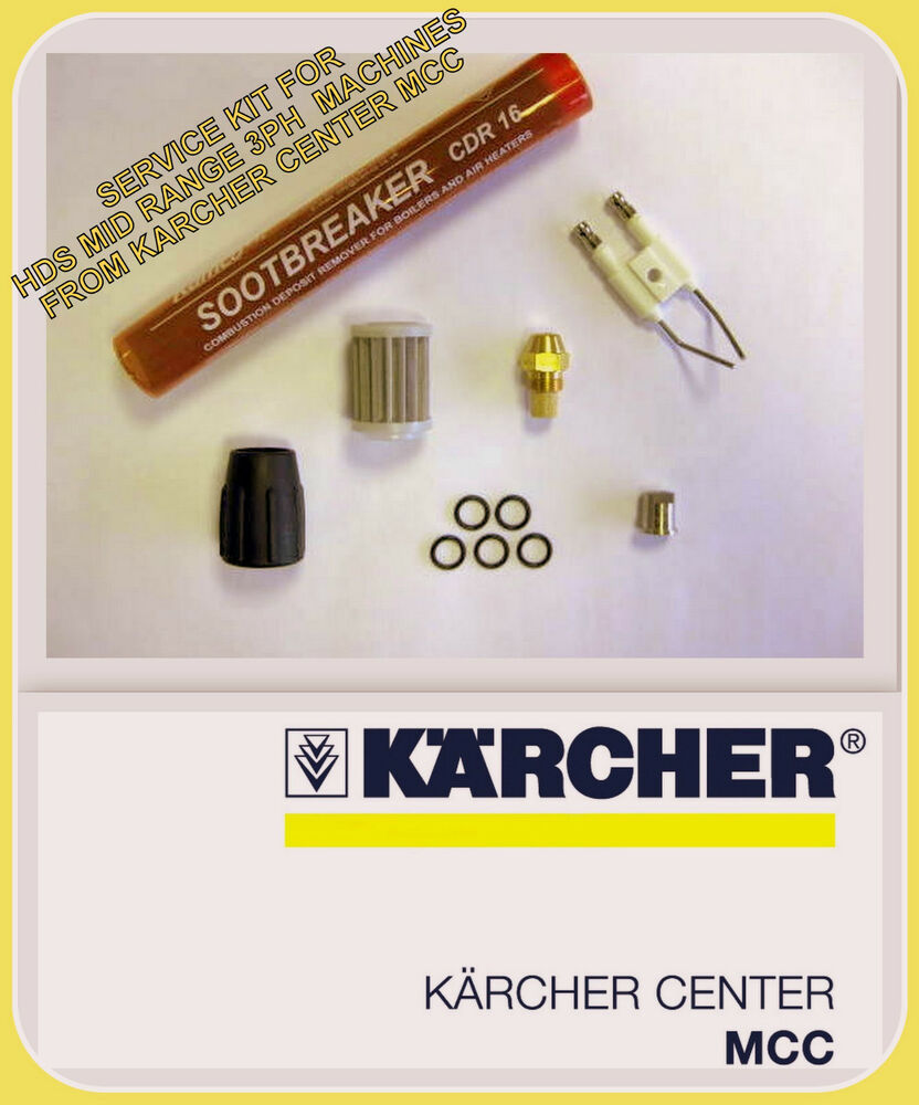 Karcher Hds 895 Spare Parts List 580 Wiring Diagram Service Kit To Suit Mid Range 3ph Models 995