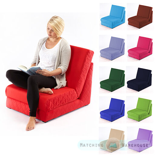 Folding Z Bed Single Chair Bed 1 Seater Sofa Fold Out