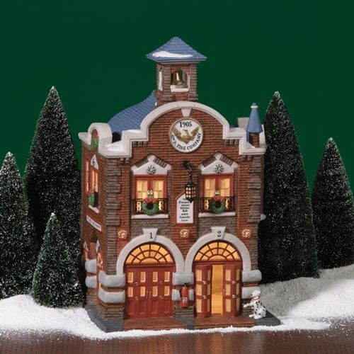DEPARTMENT 56 42nd ST FIRE COMPANY COLLECTIBLE FIGURINE