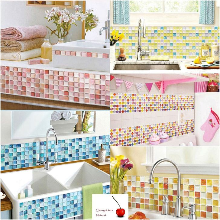 Home Bathroom Kitchen Wall Decor Stickers Backsplash
