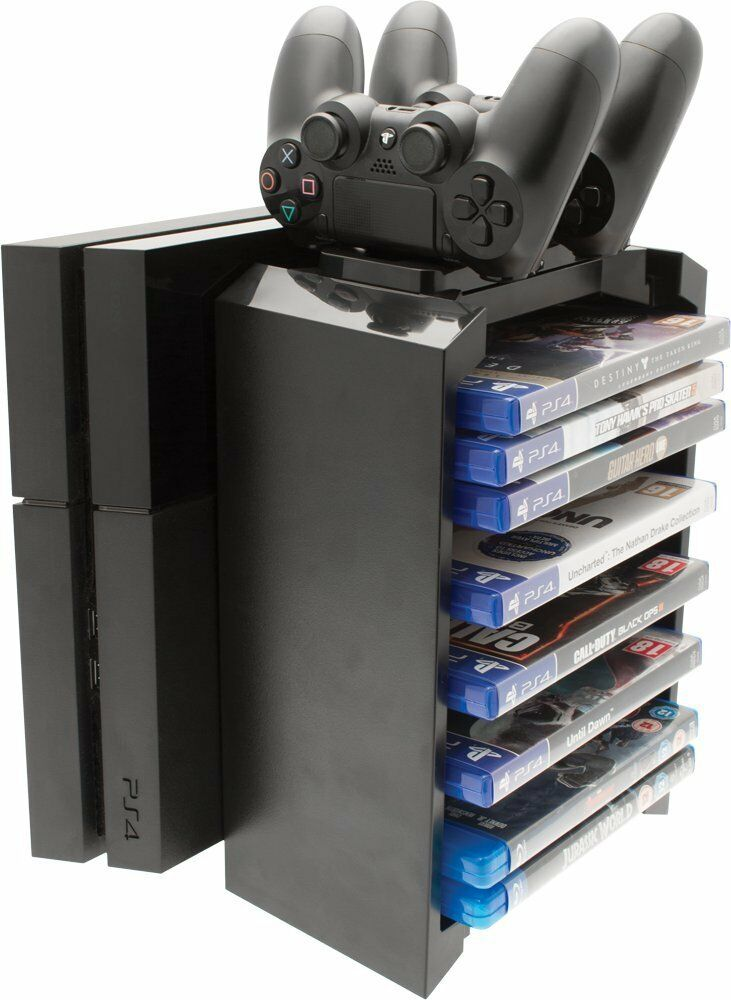 Venom PS4 2 In 1 Games Storage Tower With Controller Twin