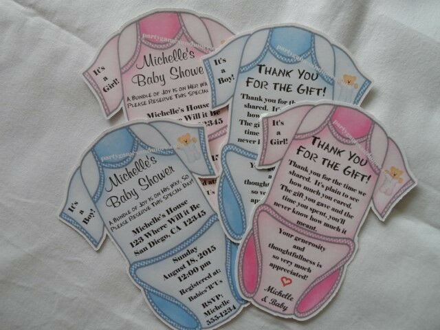 Personalised Baby Shower Cards