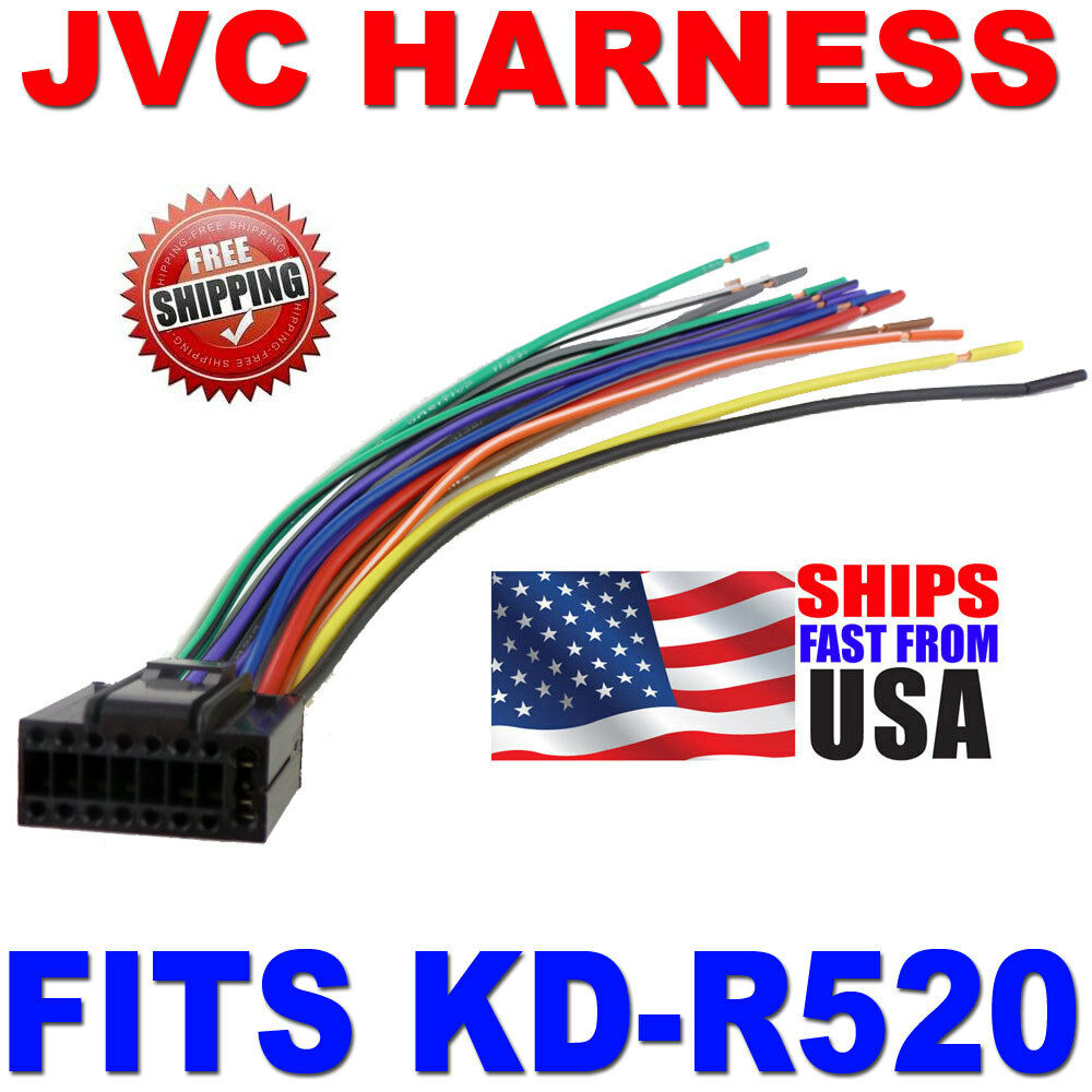 Jvc Wire Harness 16 Pin Harness Kd R520 Kdr520