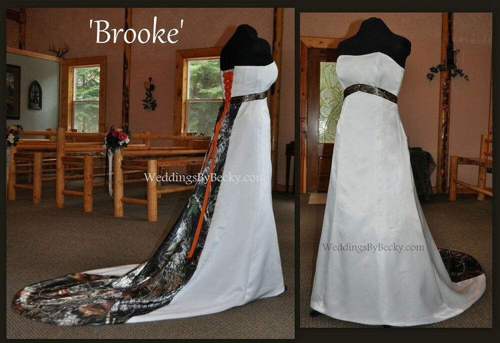 NEW Camo Wedding Dress/Gown- Empire Waist 'Brooke